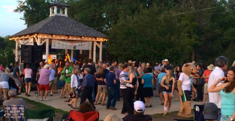 Rock & Rails, Niwot's free summer concert series, runs every Thursday night from June through August.